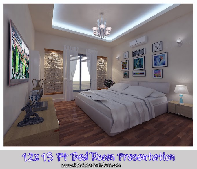 12 x 13 Feet Bedroom Interior Visualization