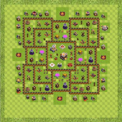 War Base Town Hall Level 11 By Batman200608 (I TH 11 Layout)
