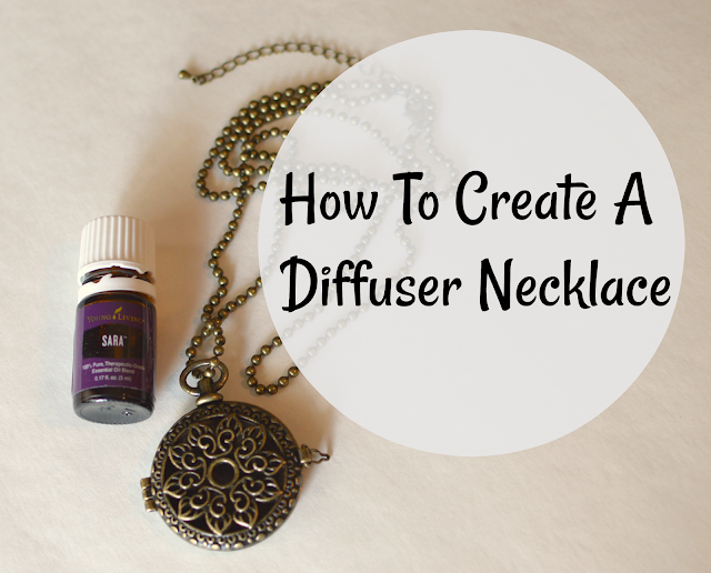 how to create a diffuser necklace.