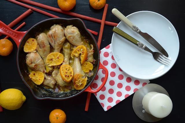 cosce di pollo al mandarino