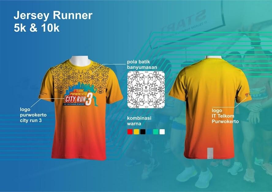 jersey IT Telkom Purwokerto City Run 3 2019