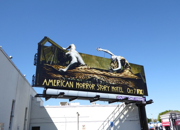 American Horror Story Hotel bed billboard
