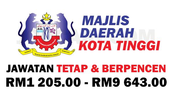 Jawatan Kosong Terbaru Bertaraf Tetap Di Majlis Daerah Kota Tinggi Mdkt Gaji Rm1 205 00 Rm9 643 00 Jobcari Com Jawatan Kosong Terkini
