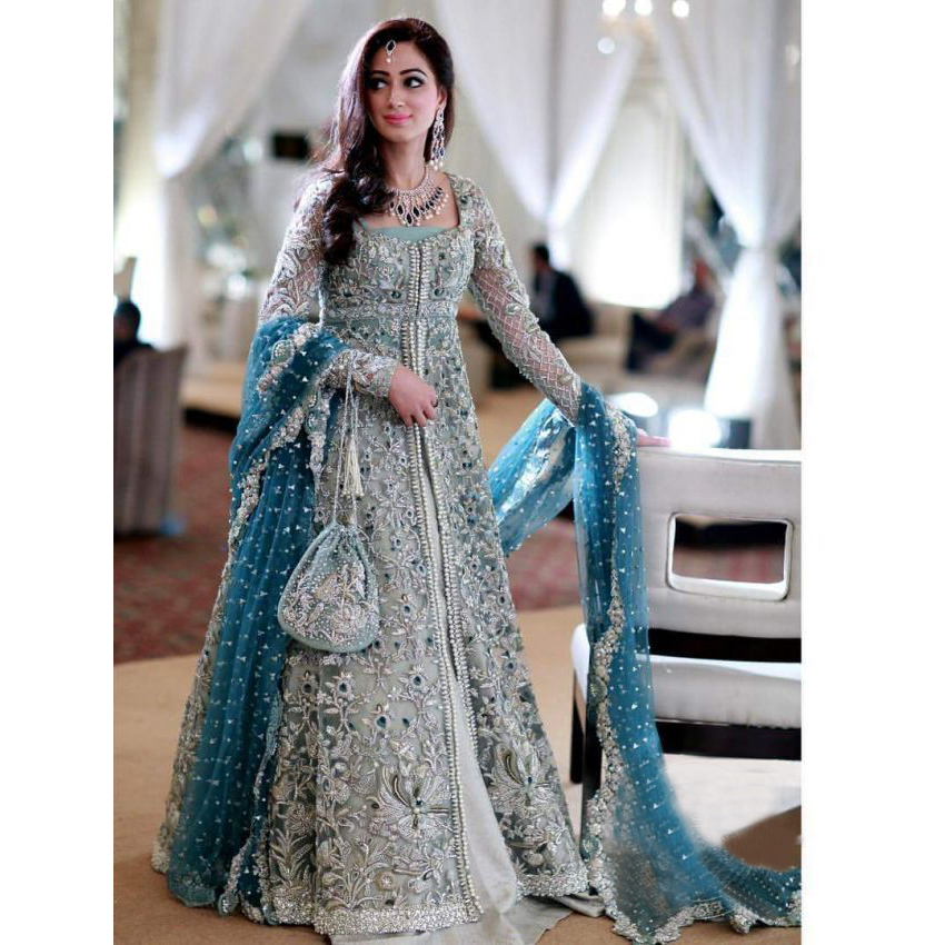 224e5cd640 Hereafter, a bridal dress grips a monstrous importance in the life of a  Pakistani woman. We have a big range of Pakistani wedding dresses online  with very ...