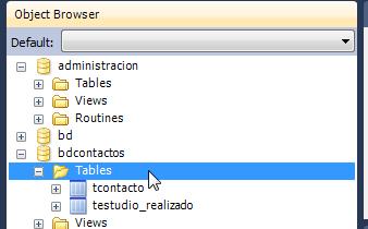 tablas de nuestra base de datos