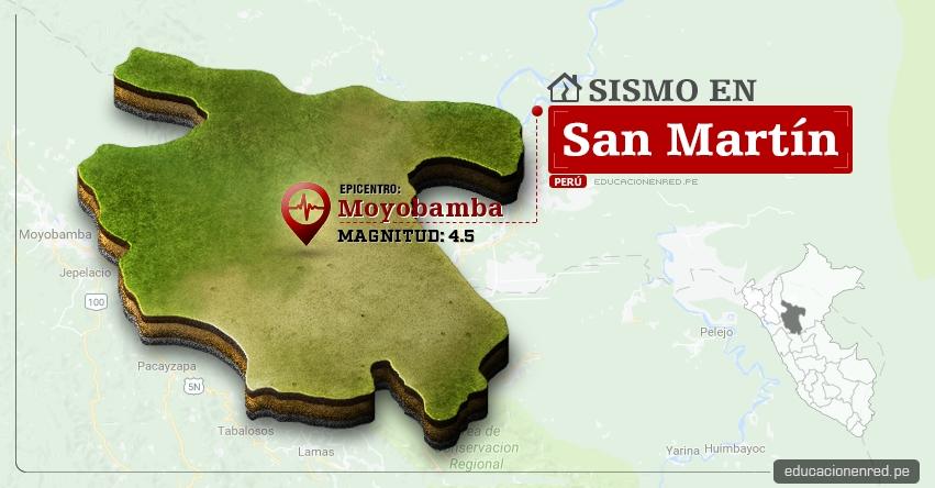 Temblor en San Martín de 4.5 Grados (Hoy Sábado 24 Junio 2017) Sismo EPICENTRO Moyobamba - Calzada - Rioja - Nueva Cajamarca - Alto Mayo - IGP - www.igp.gob.pe