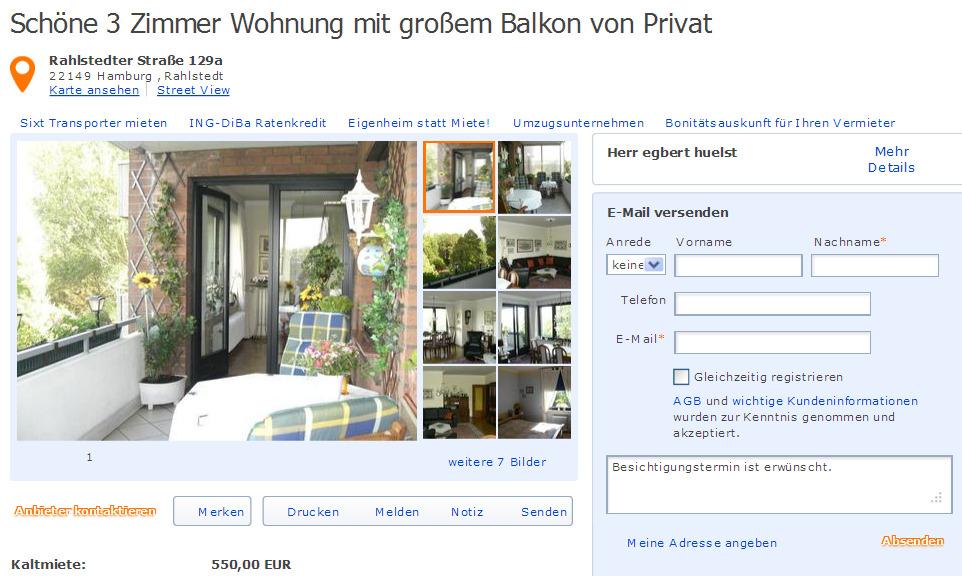 Wohnung Mieten Von Privat Hamburg