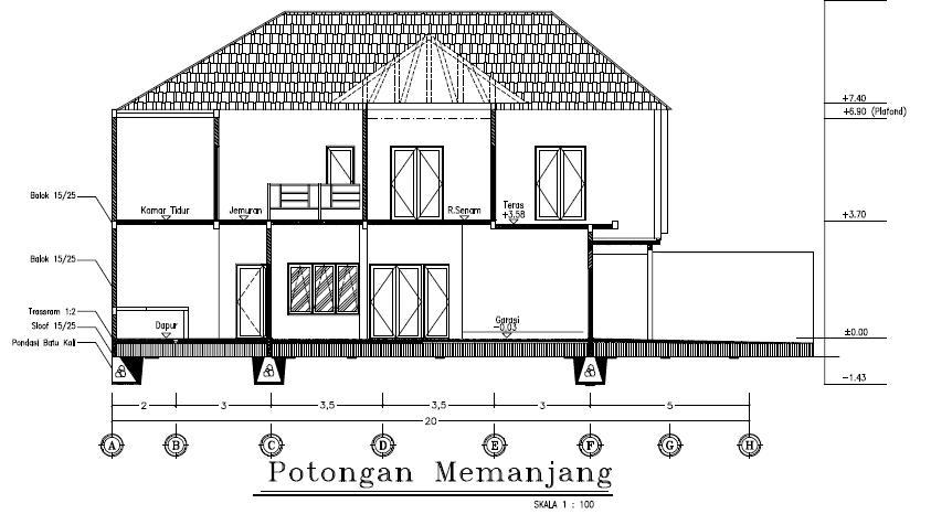 Image Result For Denah Rumah Minimalis Memanjang