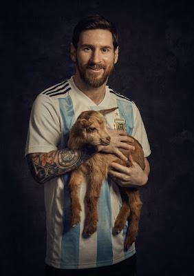 Messi et la chèvre
