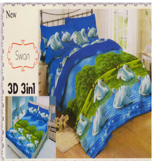 sprei 3d lady rose Swan