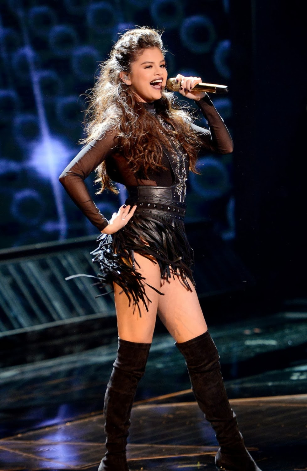 Selena Gomez Upskirt Panty Shows on The X-Factor in