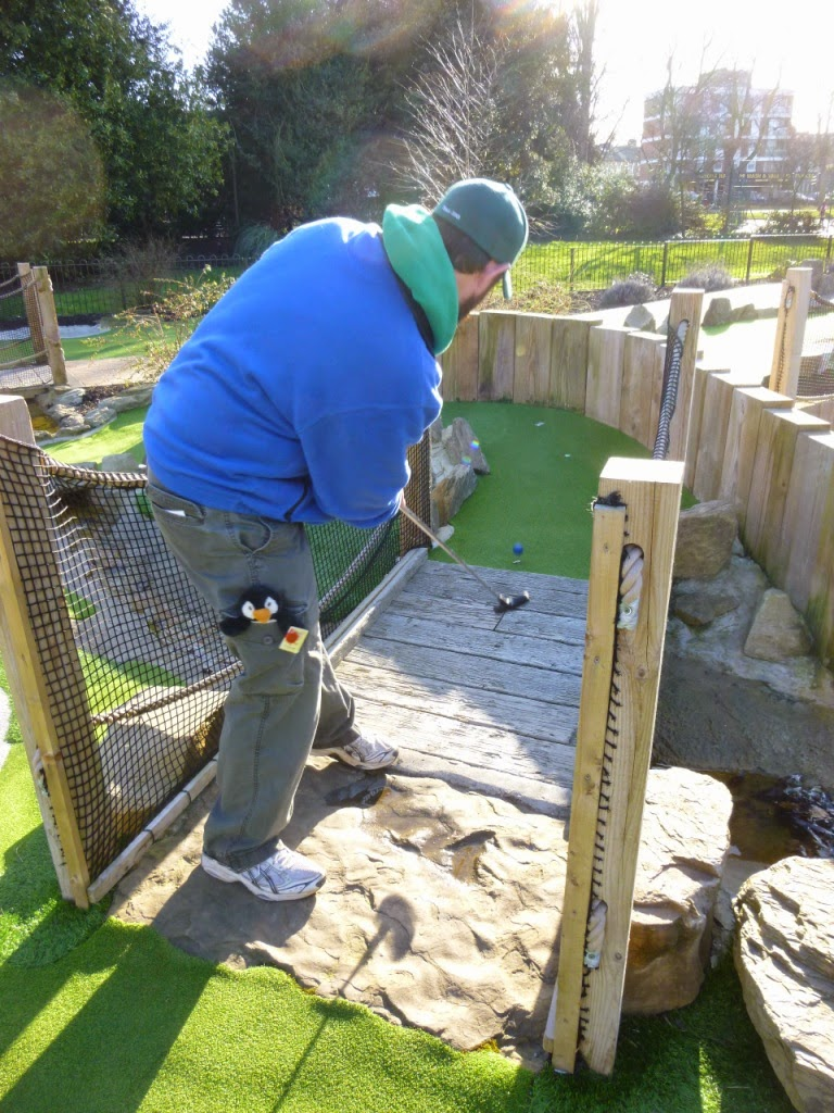 Putt in the Park minigolf course in Wandsworth Park, London