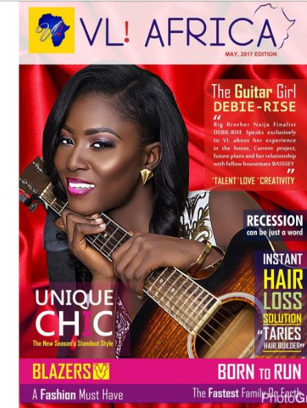 #BBNaija Finalist Debie-Rise Covers May 2017 Issue Of VL Magazine Africa