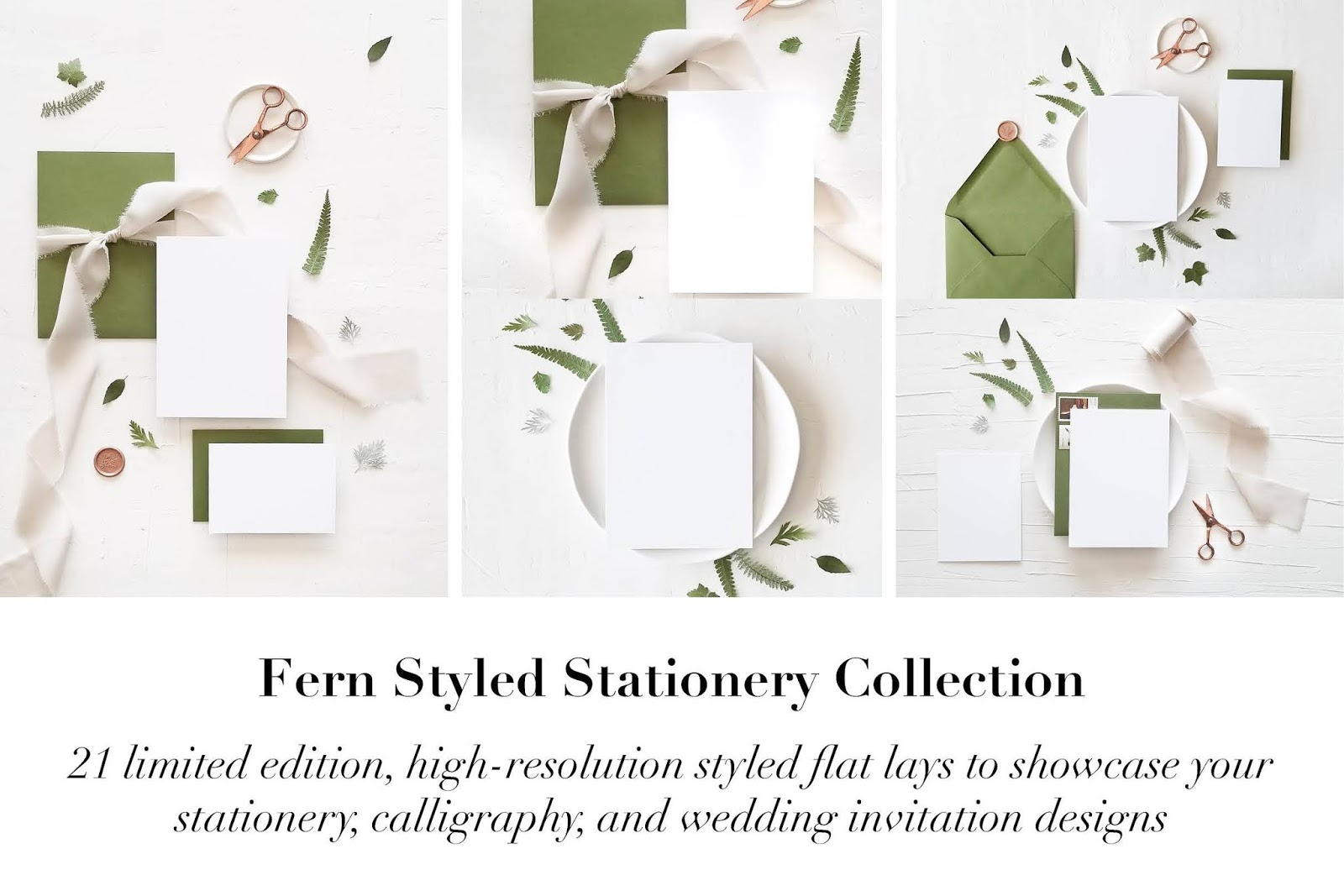 Fern Styled Stationery Mockup