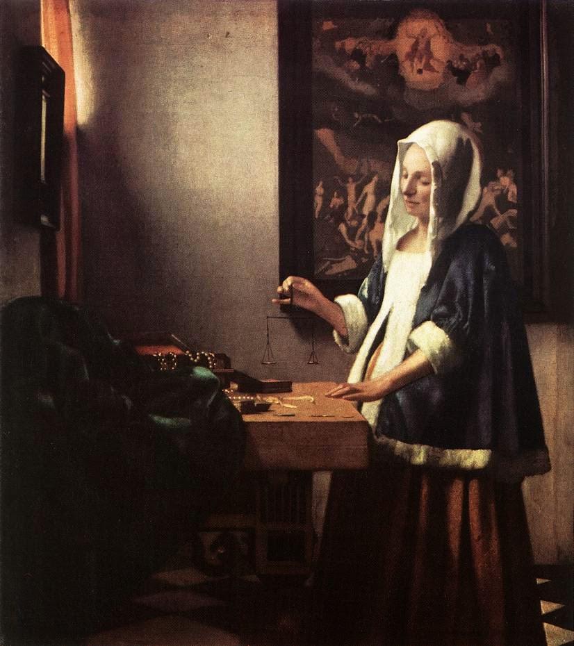 Mulher Segurando uma Balança - Vermeer, Jan e suas principais pinturas