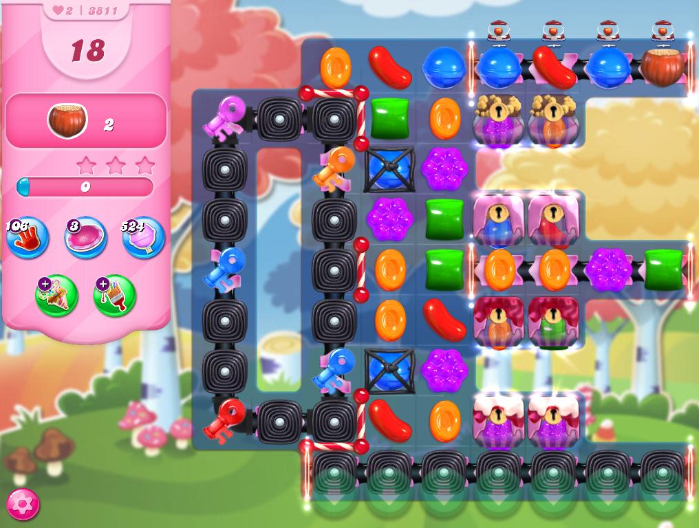 Candy Crush Saga level 3811