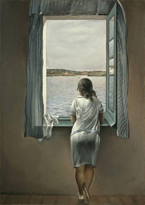 Mulher na janela em Figueras, pintura de Salvador Dalí.