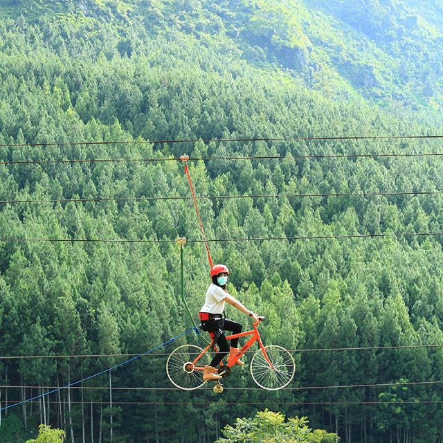 Zip Bike The Lodge Maribaya, Wisata bandung