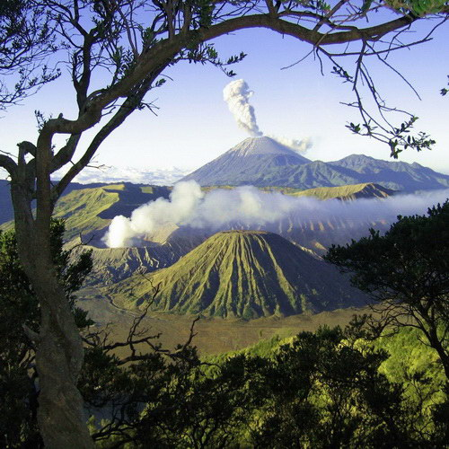 Tinuku Travel Bromo Tengger Semeru National Park in East Java includes 15 volcanoes and indigenous heritage Tengger tribe