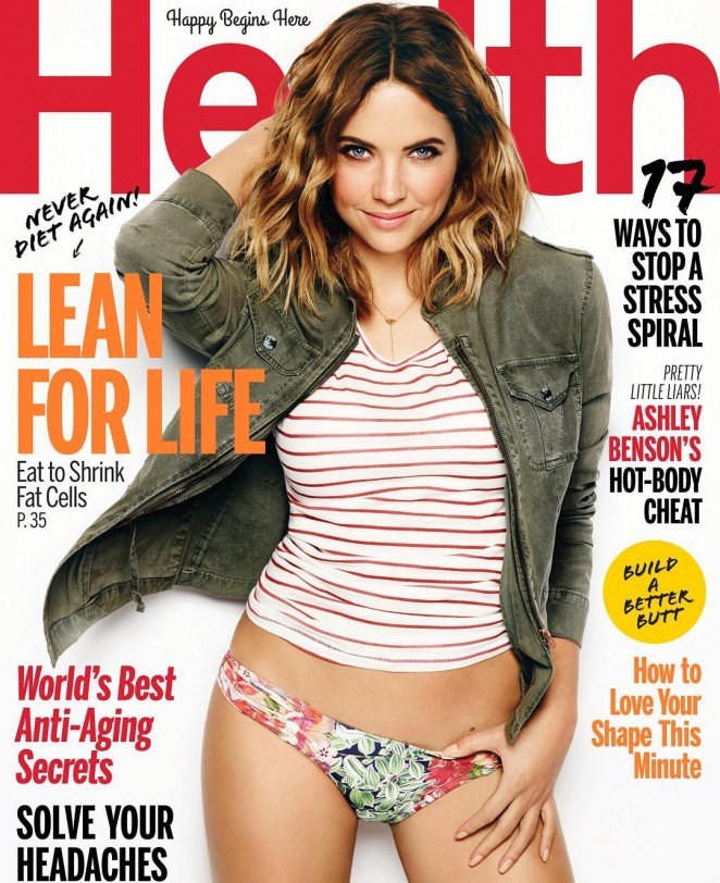 Ashley Benson strips to bikini bottoms for Health Magazine