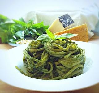 Pasta al pesto di basilico