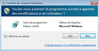 L'invite de consentement sans mot de passe de Windows