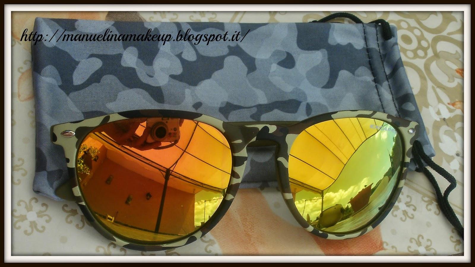 Occhiali da sole con lenti colorate - Occhiali con lenti a specchio colorate ...