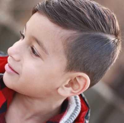 potongan rambut fade with slick untuk anak laki 214789