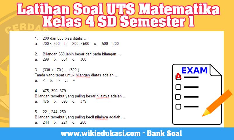 4. Latihan Soal UTS Matematika Kelas 4 SD Semester 1