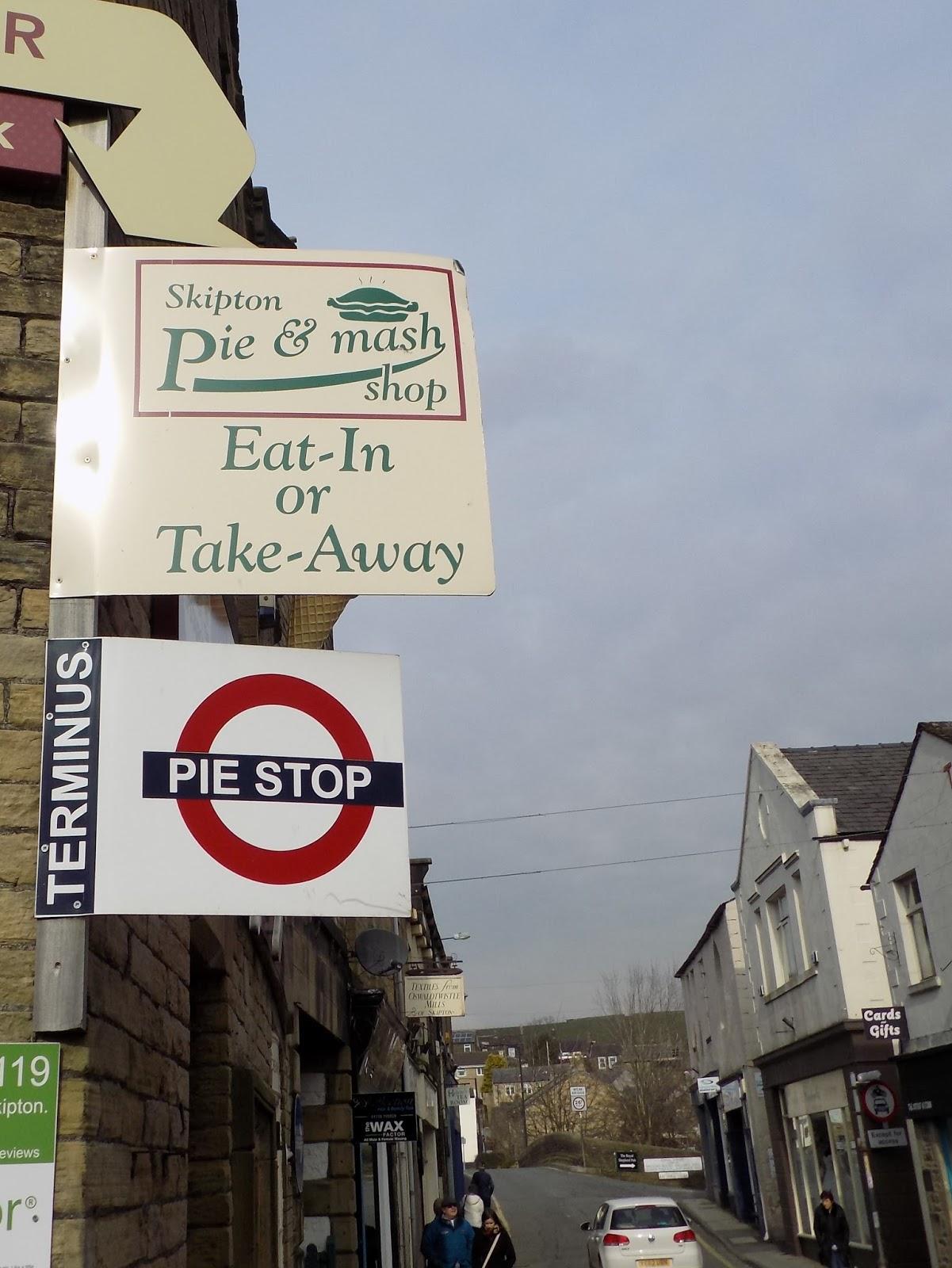 Skipton pie and mash shop
