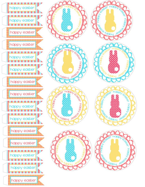 Lovely Easter Free Printable Cupcake Wrappers and Toppers.