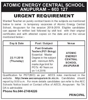 AECS-anupuram-pgt-teacher-biology-post-interview-notification-tngovernmentjobs