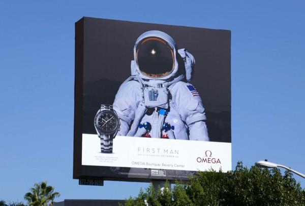 Omega Speedmaster First Man Astronaut billboard