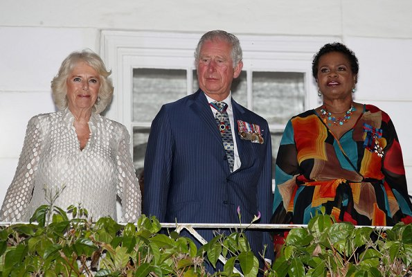 The Duke and Duchess of Cornwall attended a reception at the Prime Minister's residence