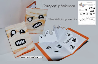Halloween carte pop'up