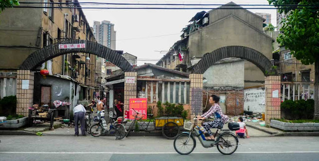 Mercados y callejuelas del barrio antiguo Shanghai