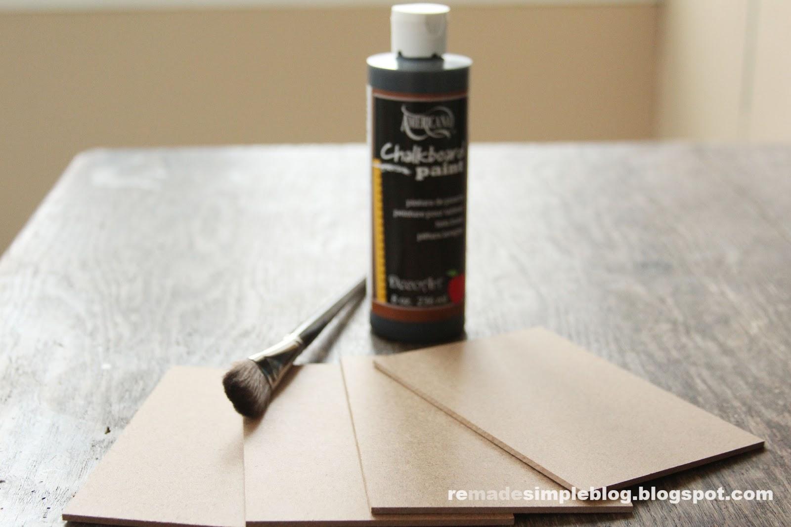 ReMadeSimple DIY Interchangeable Framed Chalkboard