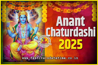 2025 Anant Chaturdashi Pooja Date and Time, 2025 Anant Chaturdashi Calendar