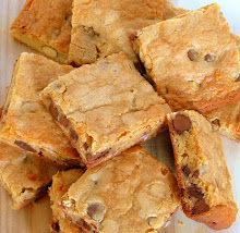 Cream Cheese Blondies with Milk- and Dark-Chocolate Chips, and Honey Roasted Almonds . . .