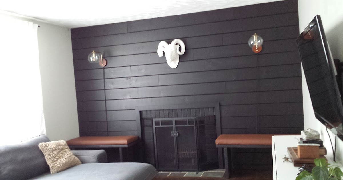 Lilly S Home Designs Black Shiplap Fireplace Wall