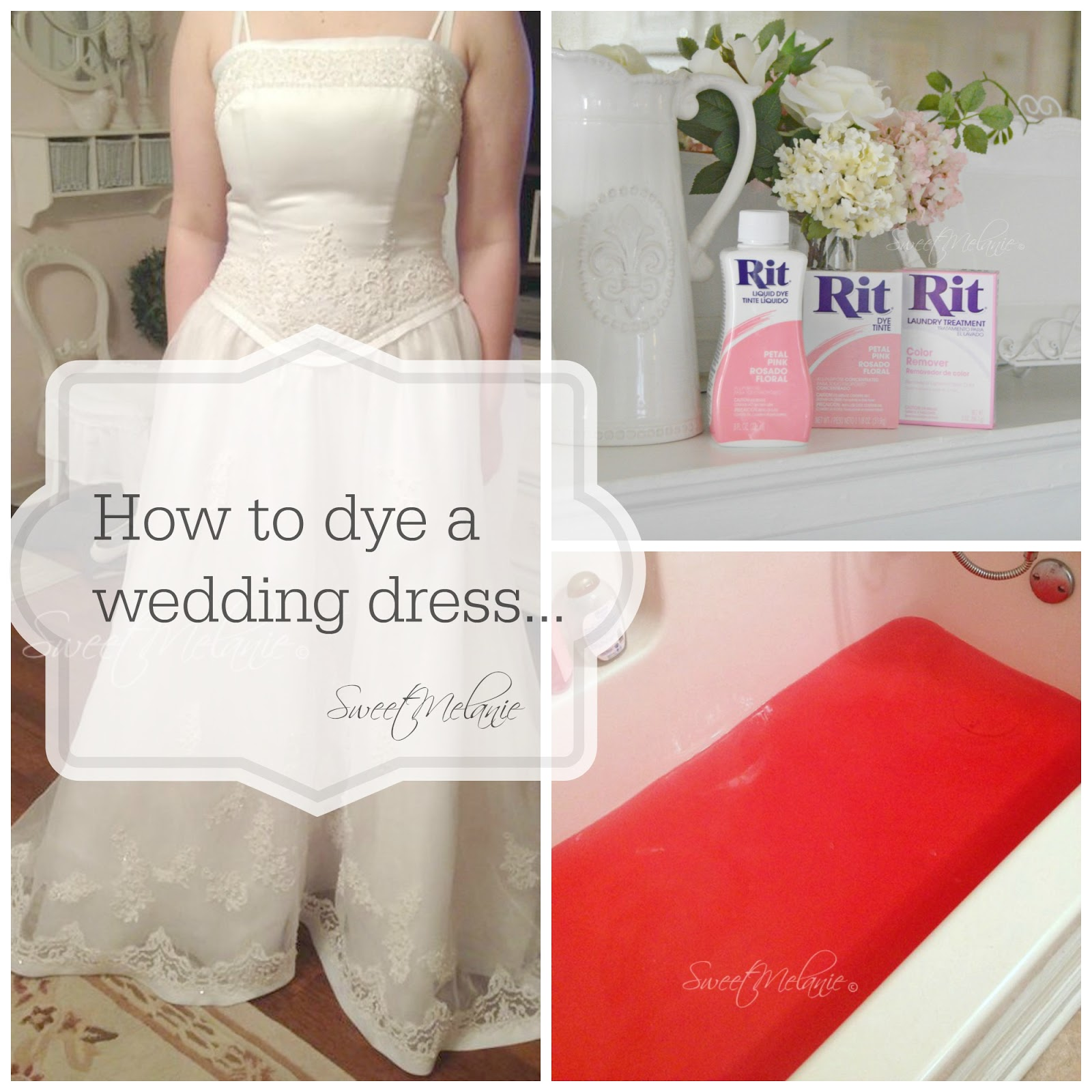 Sweet Melanie~: How to DYE a Wedding Dress