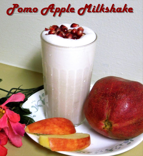 Pomegranate and Apple Milkshake | Iron Rich