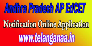 Andhra Pradesh AP EdCET 2016 Online Application