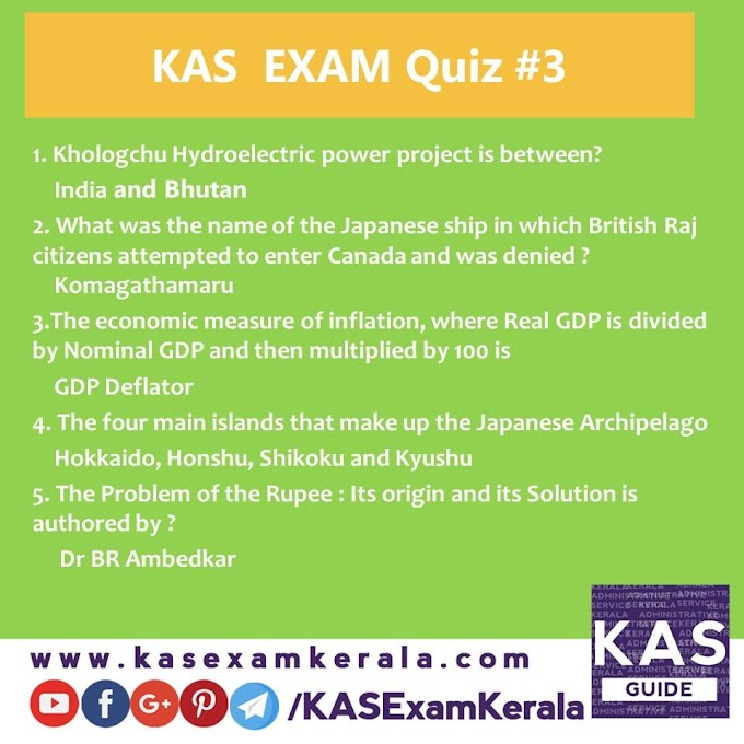 Most useful Daily Quiz for Kerala Administrative service Exam #3 | Model Question and Answers | Free Material