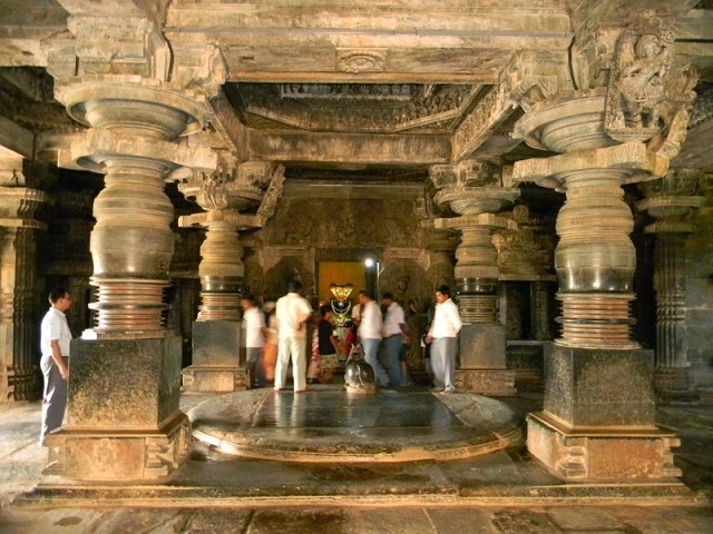 Interior of Channakeshava Temple - Belur & Halebid,Karnataka