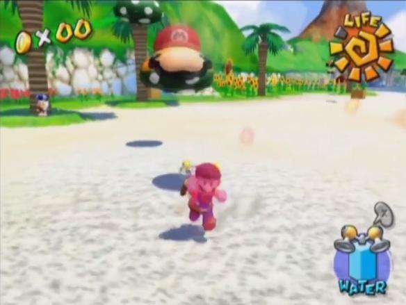 Swipin' Stu Mario steals cap mustache Super Mario Sunshine