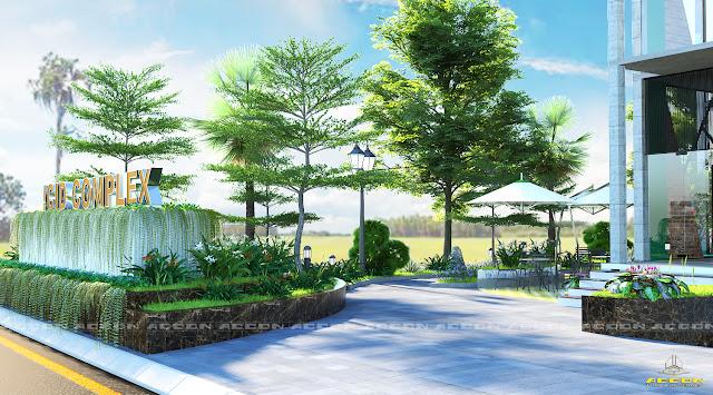 Cảnh quan xanh tại ICID Complex