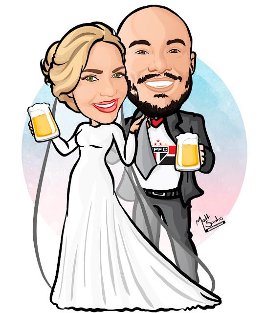 Caricatura de Noivos para Casamento