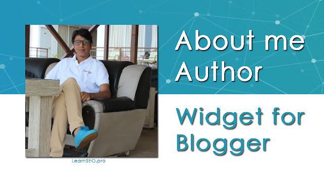 Author widget blogger