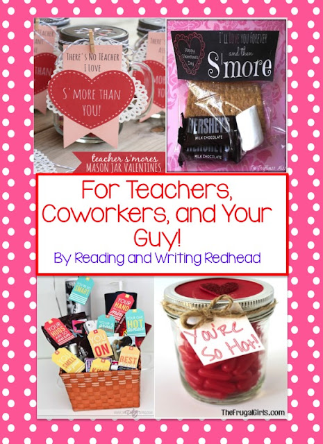 Valentines for Teachers, Coworkers, and Your Guy from Reading and Writing Redhead